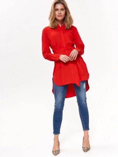 Top Secret Košile dámská červená s páskem