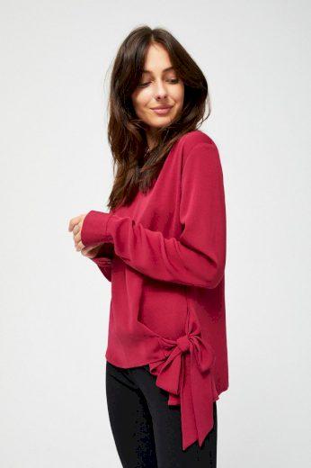 Moodo Košile dámská se zavazováním a dlouhým rukávem