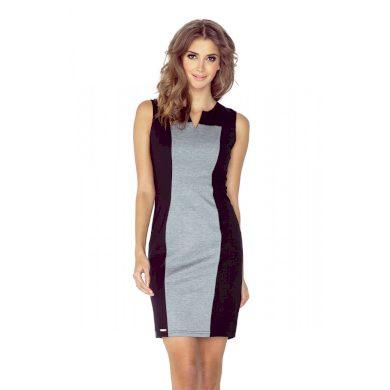 MORIMIA šaty dámské 006-3 černo - šedé