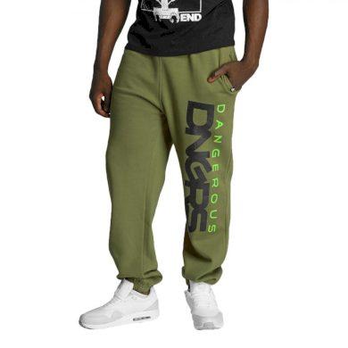 Dangerous DNGRS kalhoty pánské Classic Sweatpants Khaki tepláky