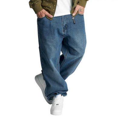 Ecko Unltd. kalhoty pánské Blue Loose Fit Jeans Mid Blue