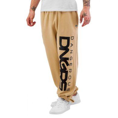Dangerous DNGRS kalhoty pánské Sweat Pant Classic in beige tepláky