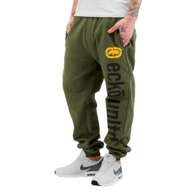 Ecko Unltd. kalhoty pánské Sweat Pant 2Face in olive tepláky
