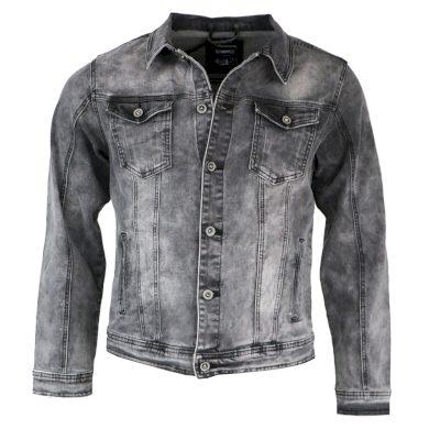 VIMAN bunda pánská TL-20112S džíska riflová nadměrná velikost