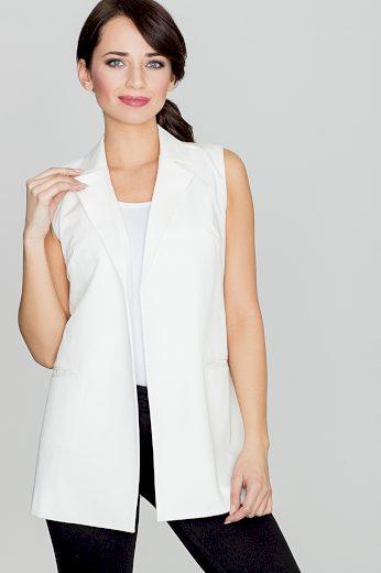Dámská elegantní vesta Lenitif K285 bílá