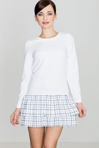 Šaty Lenitif K423 bílo-šedé