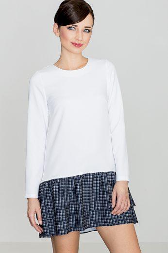 Šaty Lenitif K423 bílo-tmavěmodré
