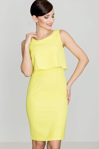 Šaty Lenitif K388 citrónově žluté