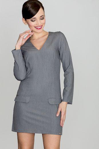 Šaty Lenitif K373 šedé