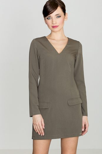 Šaty Lenitif K373 olivové