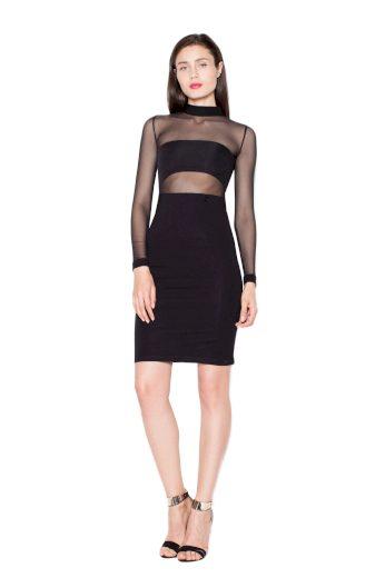 Šaty Venaton VT064 černé