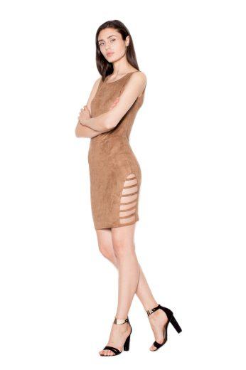 Šaty Venaton VT062 hnědá