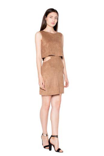 Šaty Venaton VT061 hnědé