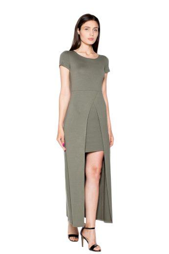 Šaty Venaton VT056 olivové