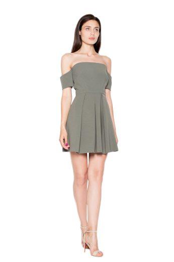 Šaty Venaton VT055 olivové