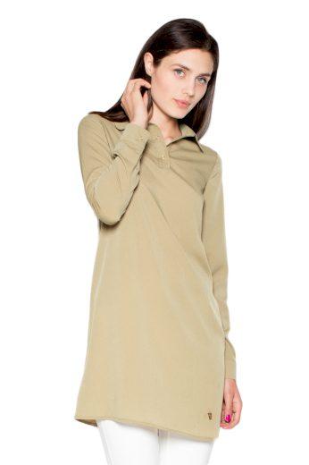 Košile Venaton VT054 olivová
