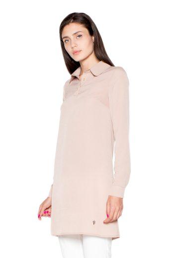 Košile Venaton VT054 béžová