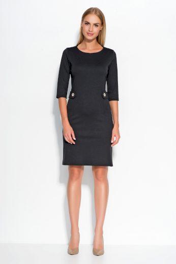 Dámské šaty Makadamia M325 černé