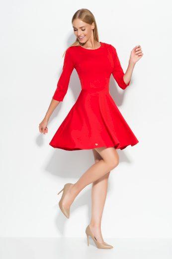 Dámské šaty Makadamia M319 červené