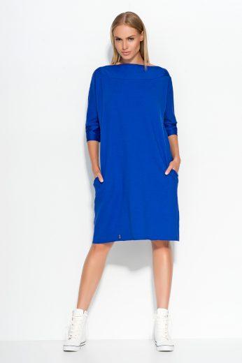 Dámské šaty Makadamia M317 modré