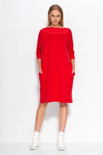 Dámské šaty Makadamia M317 červené