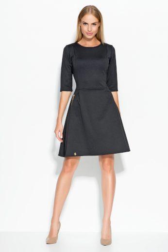 Dámské šaty Makadamia M316 černé
