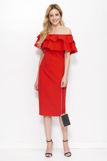 Šaty Makadamia M403 červené