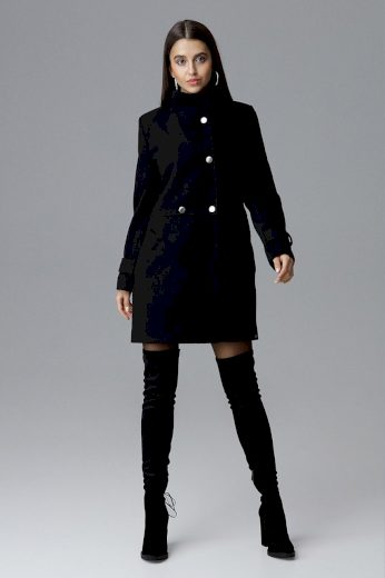Dámský kabát Figl M623 černý