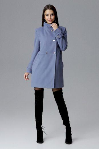 Dámský kabát Figl M623 modrošedý