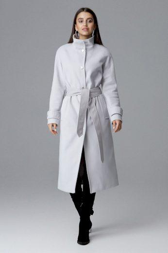 Dámský kabát Figl M624 šedý
