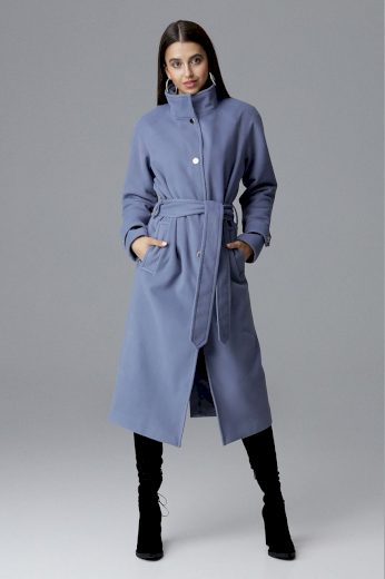 Dámský kabát Figl M624 modrý