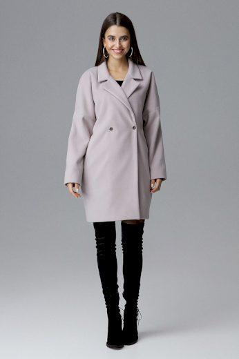 Dámský kabát Figl M625 béžový