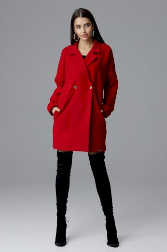 Dámský kabát Figl M625 červený