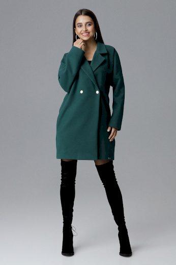 Dámský kabát Figl M625 zelený