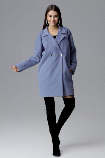 Dámský kabát Figl M625 modrý