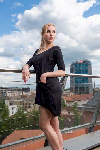 Dámské volnější šaty Sintimo s kapsami černé