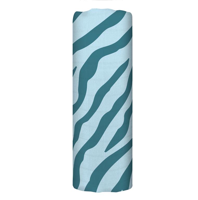 Bavlněná mušelínová plena Blue Tiger 120x120 - Tommy Lise