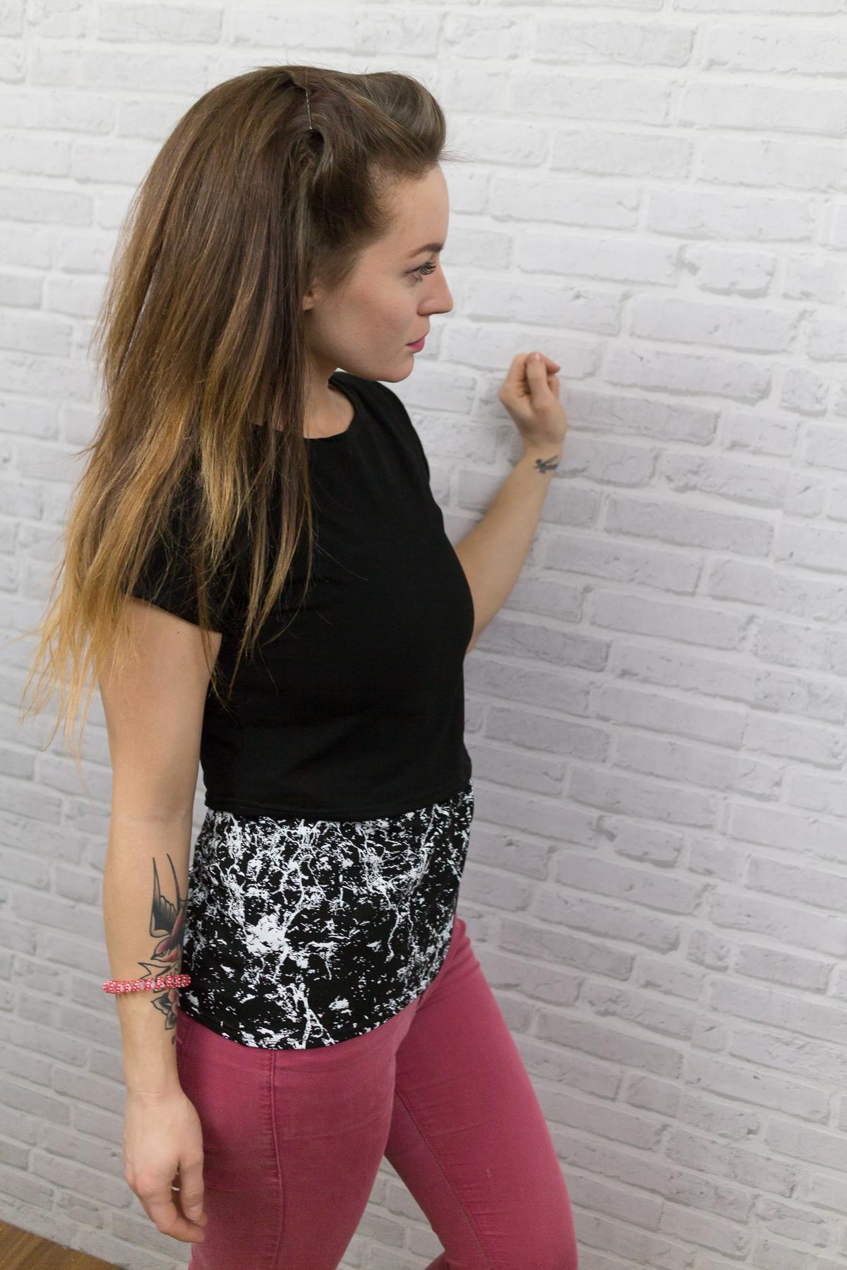 Kojící tričko Black/Art (krátký rukáv) - Jako máma
