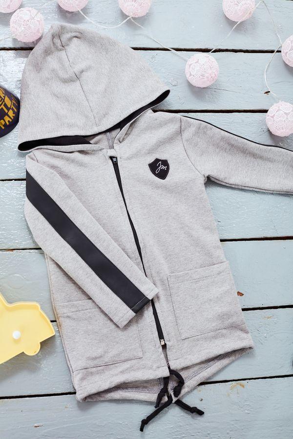 Mikina na zip New Beginning Grey chlapeček - Jako máma