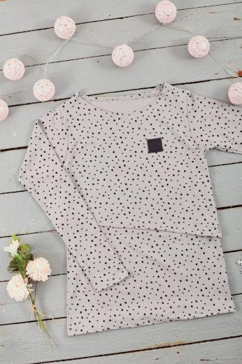 Kojící tričko Grey Dots (dlouhý rukáv) - Jako máma