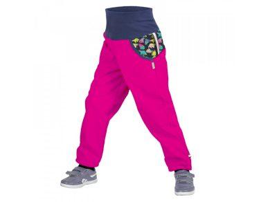 Softshellové kalhoty s fleecem fuchsiové - Unuo