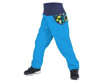 Softshellové kalhoty s fleecem tyrkysové - Unuo