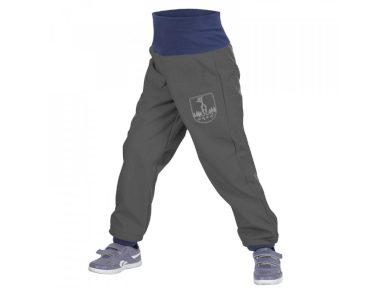 Batolecí softshellové kalhoty s fleecem Tm. Šedá - Unuo