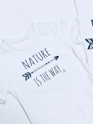 Tričko Nature is the way WHITE - Jako máma