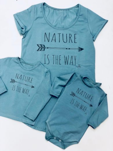 Tričko Nature is the way Blue- Jako máma