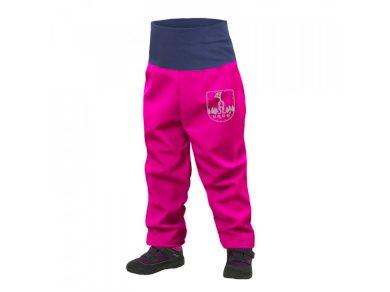 Batolecí softshellové kalhoty s fleecem, fuchsiová - Unuo