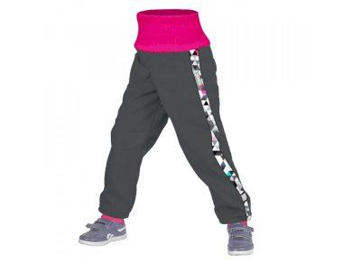 Batolecí STREET softshellové kalhoty s fleecem Metricon, tm. šedá holka - Unuo