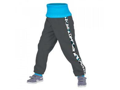 Batolecí STREET softshellové kalhoty s fleecem Metricon, tm. šedá kluk - Unuo