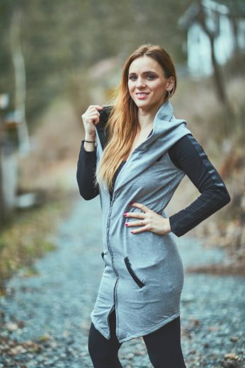 Dlouhý cardigan s kapucí Grey maminka - Jako máma