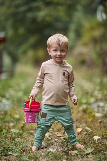 Triko Nature Beige Organic (dlouhý rukáv) - Jako máma